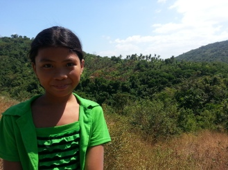 This 10 year old girl led our group to the volcano.