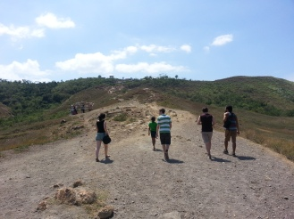 Hiking to the volcano