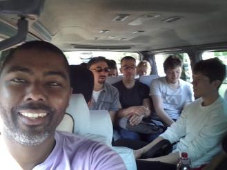 Riding in the van