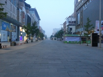 Empty plaza around 5am