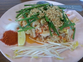 The local restaurant served up spicy and delicious Thai cuisine.