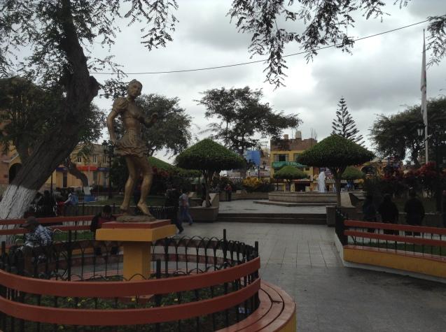 a statute of a proud Afro-Peruvian woman
