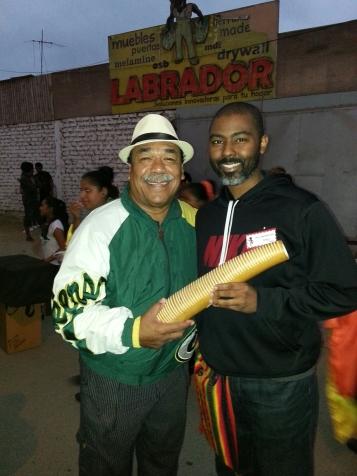 Alfredo Valiente (left) and me