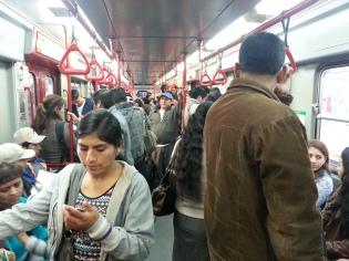 Passengers on Lima's Train