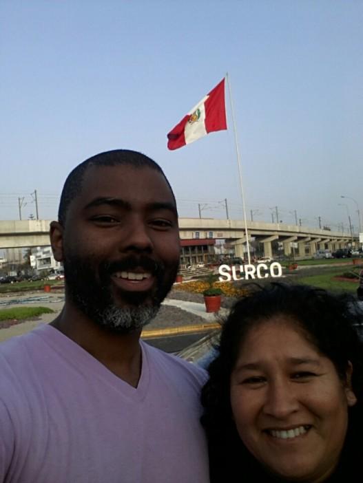 with Nancy near Lima' train station
