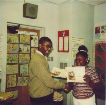 Internship with Junior Achievement, 1998 - 1999